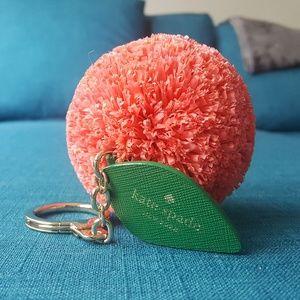 Kate Spade Orange Raffia Keychain Bag Charm